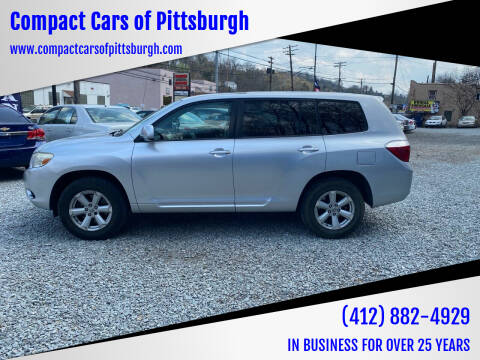 2008 Toyota Highlander for sale at Compact Cars of Pittsburgh in Pittsburgh PA
