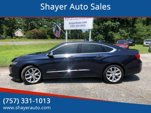 2017 Chevrolet Impala for sale at Shayer Auto Sales in Cape Charles VA