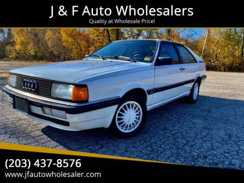 1986 Audi Coupe for sale at J & F Auto Wholesalers in Waterbury CT