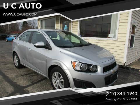 2015 Chevrolet Sonic for sale at U C AUTO in Urbana IL