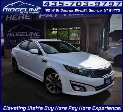 2015 Kia Optima for sale at Ridgeline Auto Sales in Saint George UT