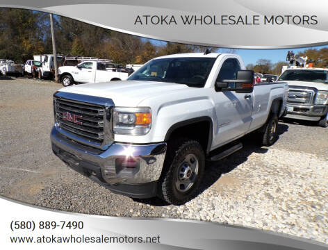 2015 GMC Sierra 2500HD for sale at ATOKA WHOLESALE MOTORS in Atoka OK