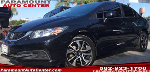 2013 Honda Civic for sale at PARAMOUNT AUTO CENTER in Downey CA