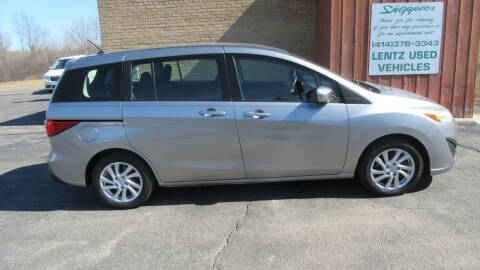 2012 Mazda MAZDA5 for sale at LENTZ USED VEHICLES INC in Waldo WI