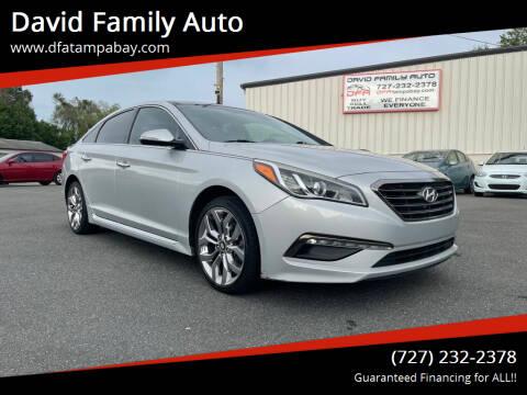 2015 Hyundai Sonata for sale at David Family Auto in New Port Richey FL