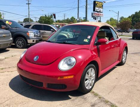 2008 Volkswagen New Beetle Convertible for sale at Steve's Auto Sales in Norfolk VA