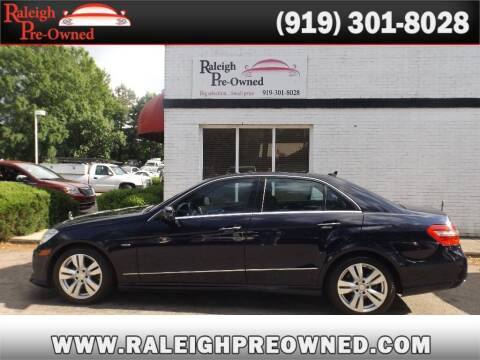 2011 Mercedes-Benz E-Class for sale at Raleigh Pre-Owned in Raleigh NC