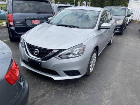 2016 Nissan Sentra for sale at CLASSIC MOTOR CARS in West Allis WI