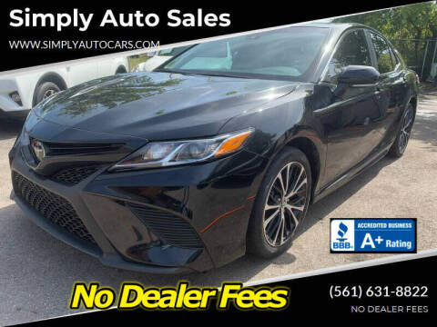 2018 Toyota Camry for sale at Simply Auto Sales in Palm Beach Gardens FL