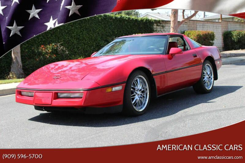 1986 Chevrolet Corvette for sale at American Classic Cars in La Verne CA