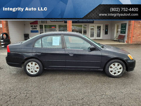 2003 Honda Civic for sale at Integrity Auto LLC - Integrity Auto 2.0 in St. Albans VT