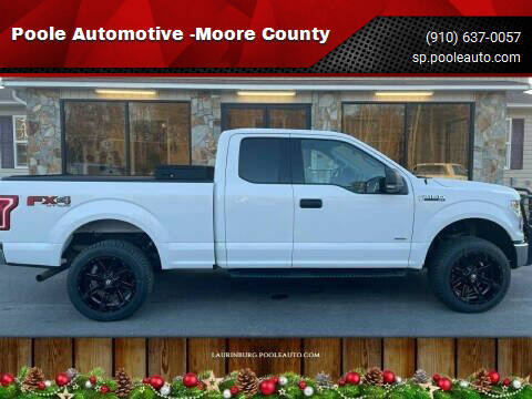 2015 Ford F-150 for sale at Poole Automotive -Moore County in Aberdeen NC