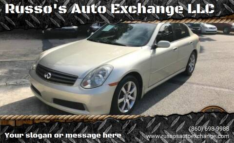 2006 Infiniti G35 for sale at Russo's Auto Exchange LLC in Enfield CT