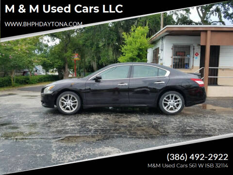 2010 Nissan Maxima for sale at M & M Used Cars LLC in Daytona Beach FL