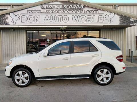 2009 Mercedes-Benz M-Class for sale at Don Auto World in Houston TX