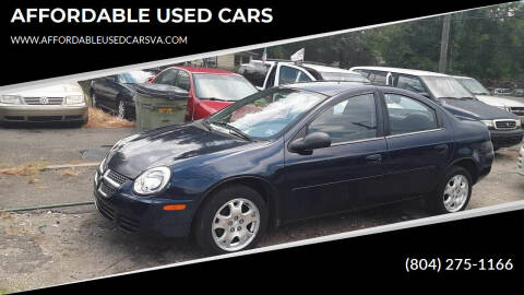 2005 Dodge Neon for sale at AFFORDABLE USED CARS in Richmond VA