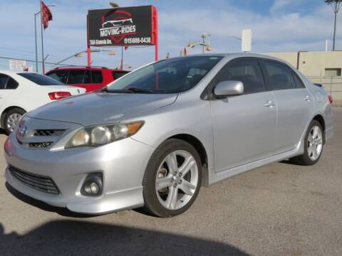 2013 Toyota Corolla for sale at Moving Rides in El Paso TX