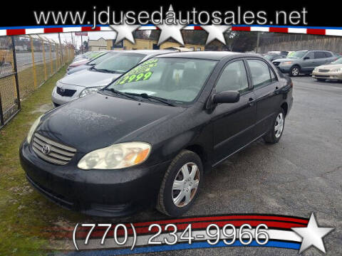 2004 Toyota Corolla for sale at J D USED AUTO SALES INC in Doraville GA