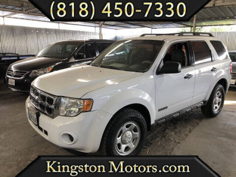 2008 Ford Escape for sale at Kingston Motors in North Hollywood CA