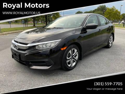 2016 Honda Civic for sale at Royal Motors in Hyattsville MD