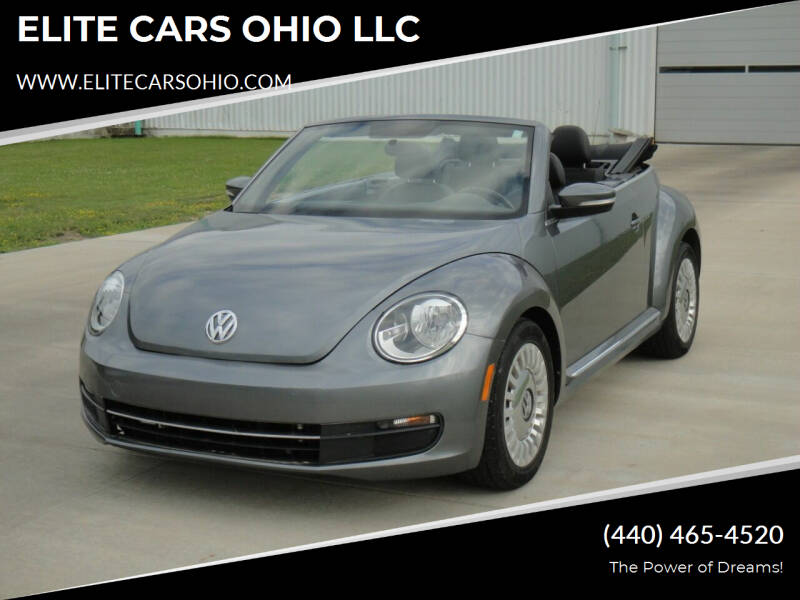2014 Volkswagen Beetle Convertible for sale at ELITE CARS OHIO LLC in Solon OH
