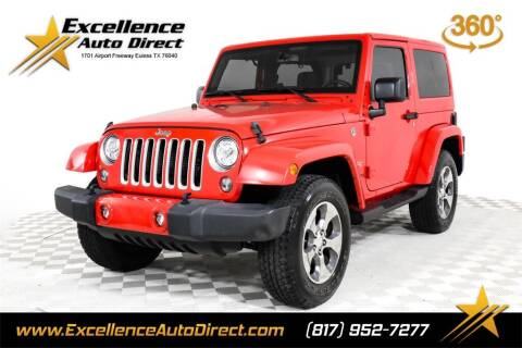 2018 Jeep Wrangler JK for sale at Excellence Auto Direct in Euless TX