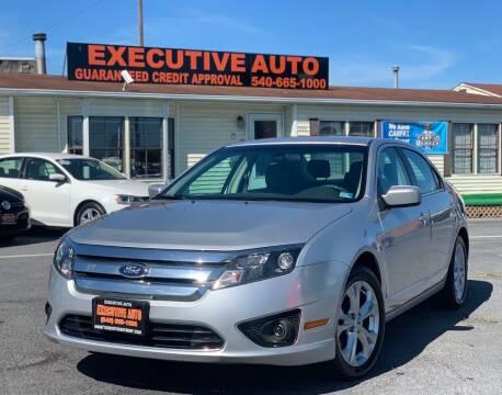 2012 Ford Fusion for sale at Executive Auto in Winchester VA