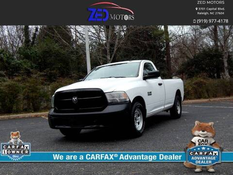 2016 RAM Ram Pickup 1500 for sale at Zed Motors in Raleigh NC