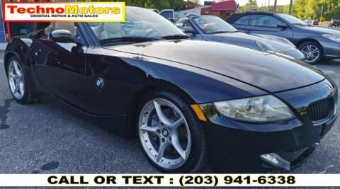2006 BMW Z4 for sale at Techno Motors in Danbury CT