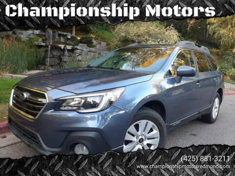 2018 Subaru Outback for sale at Championship Motors in Redmond WA