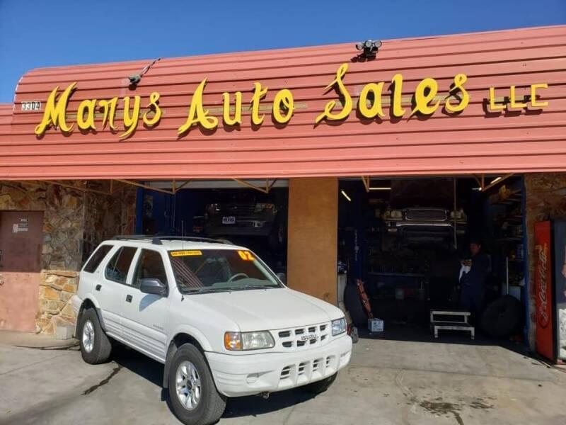 2002 Isuzu Rodeo for sale at Marys Auto Sales in Phoenix AZ
