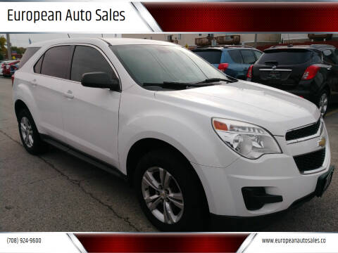 2013 Chevrolet Equinox for sale at European Auto Sales in Bridgeview IL