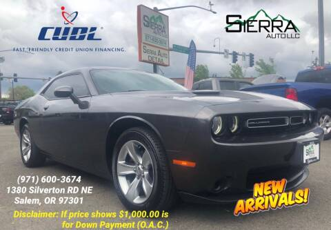 2015 Dodge Challenger for sale at SIERRA AUTO LLC in Salem OR