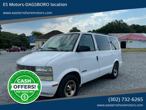 2002 Chevrolet Astro for sale at ES Motors-DAGSBORO location in Dagsboro DE