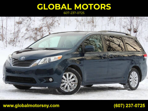 2012 Toyota Sienna for sale at GLOBAL MOTORS in Binghamton NY