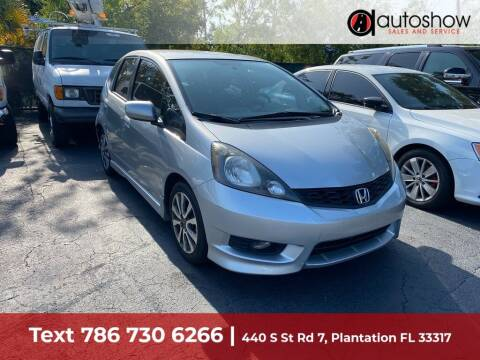 2013 Honda Fit for sale at AUTOSHOW SALES & SERVICE in Plantation FL