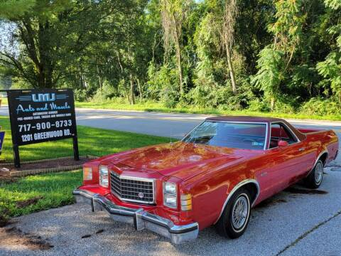 1979 Ford Ranchero for sale at LMJ AUTO AND MUSCLE in York PA