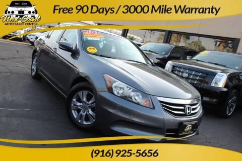 2012 Honda Accord for sale at West Coast Auto Sales Center in Sacramento CA