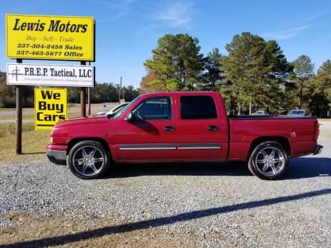 2006 Chevrolet Silverado 1500 for sale at Lewis Motors LLC in Deridder LA