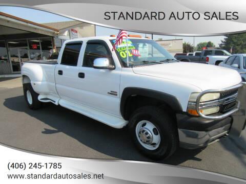 2002 Chevrolet Silverado 3500 for sale at Standard Auto Sales in Billings MT