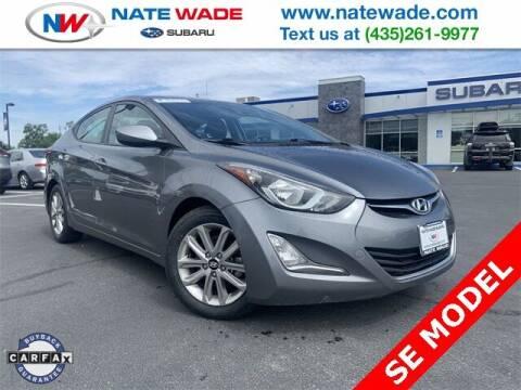 2016 Hyundai Elantra for sale at NATE WADE SUBARU in Salt Lake City UT