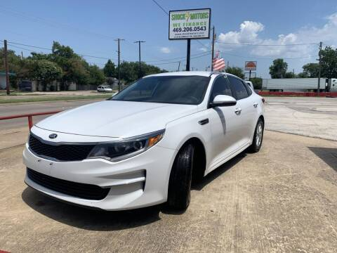 2016 Kia Optima for sale at Shock Motors in Garland TX