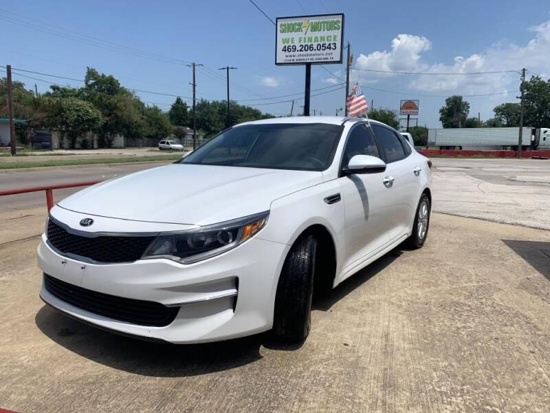 2016 Kia Optima for sale at Shock Motors in Garland TX
