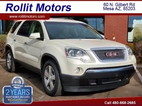 2011 GMC Acadia for sale at Rollit Motors in Mesa AZ