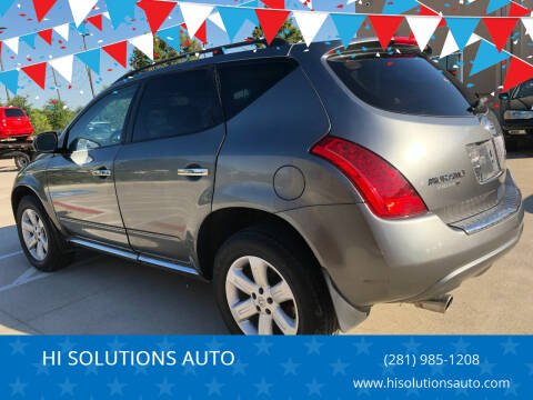 2007 Nissan Murano for sale at HI SOLUTIONS AUTO in Houston TX
