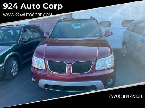 2007 Pontiac Torrent for sale at 924 Auto Corp in Sheppton PA