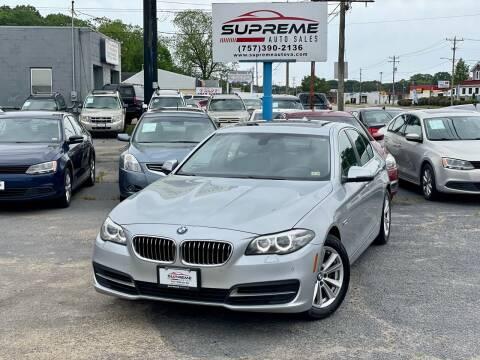 2014 BMW 5 Series for sale at Supreme Auto Sales in Chesapeake VA