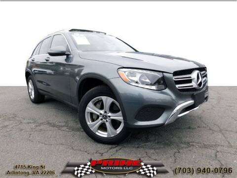 2018 Mercedes-Benz GLC for sale at PRIME MOTORS LLC in Arlington VA