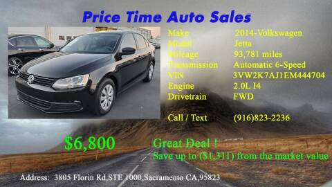2014 Volkswagen Jetta for sale at PRICE TIME AUTO SALES in Sacramento CA