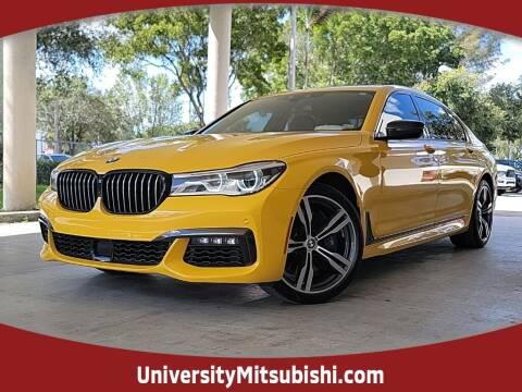 2018 BMW 7 Series for sale at FLORIDA DIESEL CENTER in Davie FL